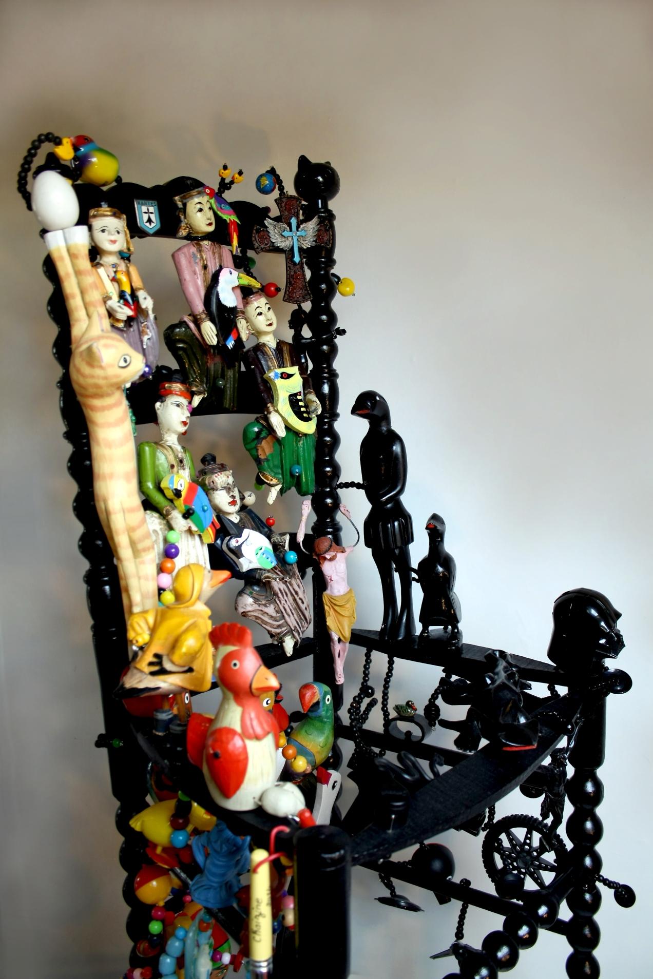 chaise oiseaux multicolor (13)